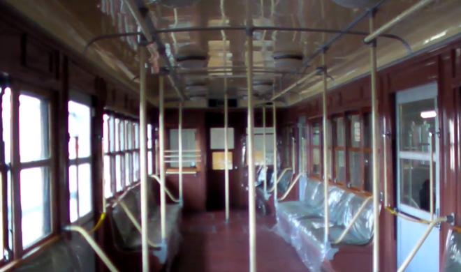 大阪市交通局、市電の保存基地へ潜入!木製の内装がステキだよ。Old Tram Museum Osaka City.