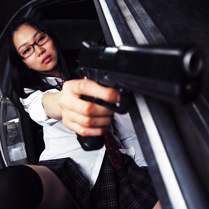 銃撃女子★SGS9 #08 弾丸ラリー GUN GIRL SGS9 Bullets Larry?