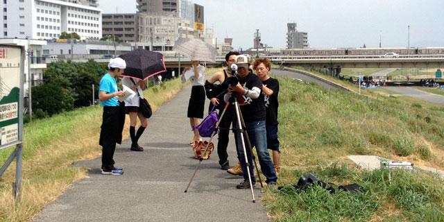 晴天の真夏日、撮影と日焼けと豪雨の一日。