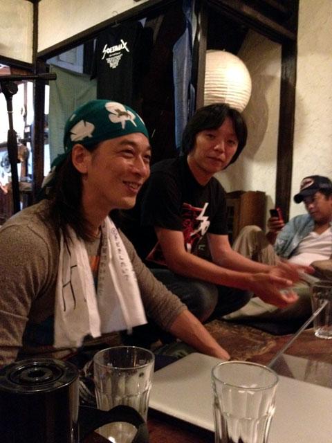 夜の町家カフェで映画撮影 Filming in Old Japanese House Cafe