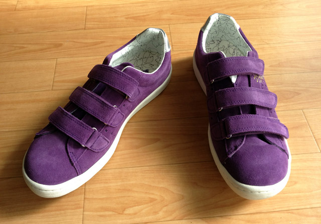 【SOLESTAR】パープルのスニーカー I bought a shoes of SOLESTAR.
