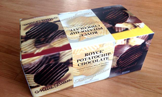 ROYCEのポテチチョコ、美味っ!