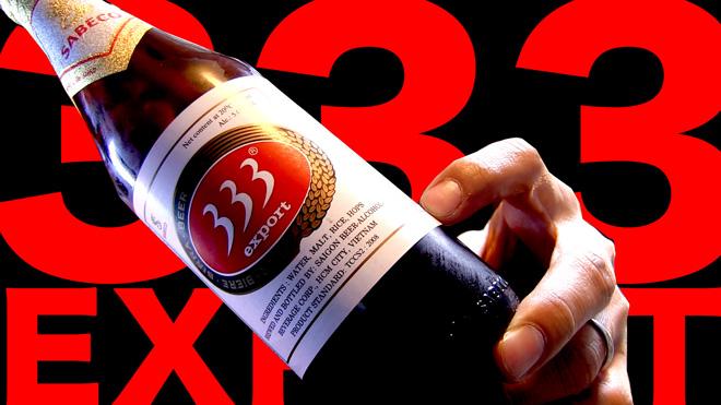 ベトナムのビール【サイゴン】バーバーバー BEER Saigon 333 Export