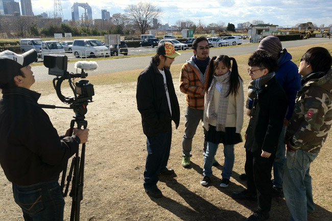 2012年の撮影納めか?冬の河川敷、快晴の撮影日だったよ!The winter day. We've filming at the riverside.