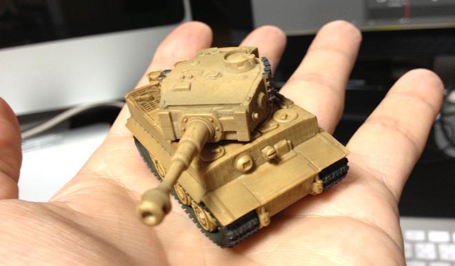 タイガー戦車が出て来たよ。 海洋堂ワールドタンクディフォルメ ドイツ機甲師団編
