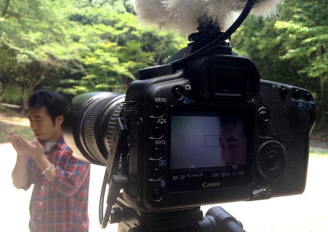 こじんまりと撮影してた「暑いな〜、今日は初夏みたいだね!」な日。A filming day. A day of like a summer day.