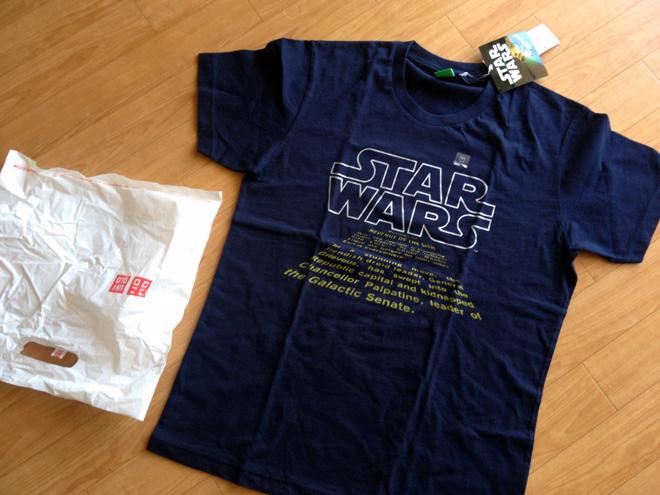 【ユニクロUT】スターウォーズTシャツをゲット!I've got Star Wars T-shirt at UNIQLO!!