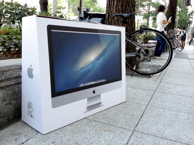 iMac 2013 アップルストアでお買い上げ!お持ち帰りの道中、記念写真を撮りながら帰ってみる。