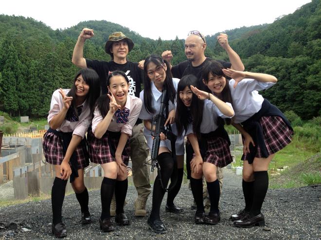 コンバットゾーン京都さんにて「軍曹どうでしょう?」を撮影!We've a filming with School Girls.