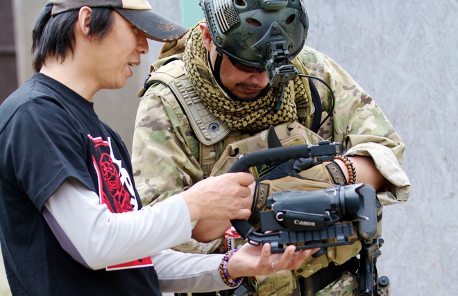 メイキング・オブ・バトルフィールドサムライ 岸和田CQBフィールドBuddyさんで撮影でした。Behind the Scene of BATTLE FIELD SAMURAI