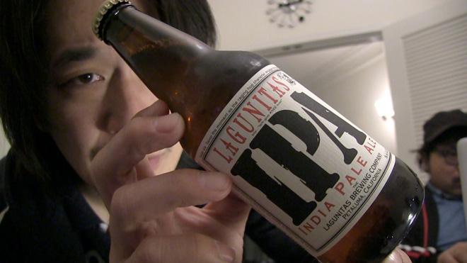 ロサンジェルスでビールレビュー!【ラグニタス】MEGWIN TVと一緒に飲んだ LAGUNITAS IPA BEER