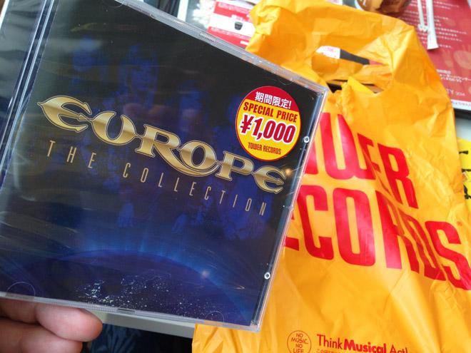 CDを衝動買い!ヨーロッパ「ファイナルカウントダウン」このイントロを越える曲はなかなか無いね。