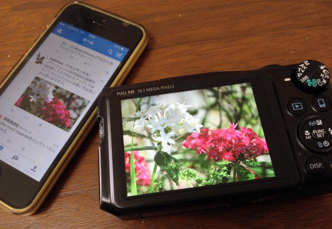 【Canon PowerShot SX700HS】のWiFi機能を使ってみる。アプリCameraWindowで高画質写真をSNSへ!