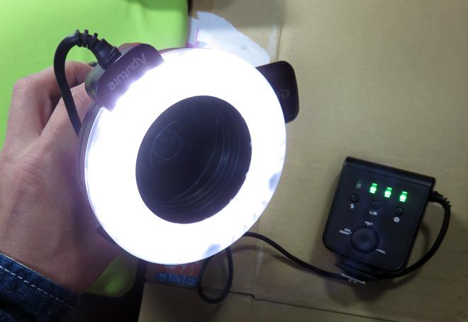 リングライトでキャッチライトを!【Aputure Amaran LED 100球 リングライト HC100】を買って…改造してみた!