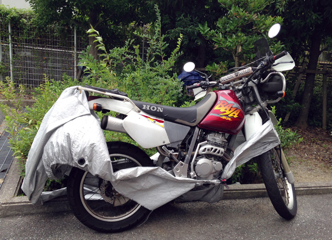 台風でビリビリと無惨な姿に!またまたバイクカバーを新調【コーナンLIFE LEX バイクカバー】果たして安物を買うのは正解か?