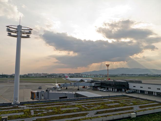 展望デッキは楽しいぞ!【伊丹空港(大阪国際空港)】展望デッキで楽しむ秋の夕暮れ。