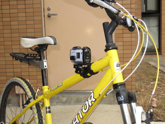 500円で購入!チープな【自転車用カメラマウント】は使えるか?アクションカム【SONY FDR-X1000V】で実装テストしてみたよ。