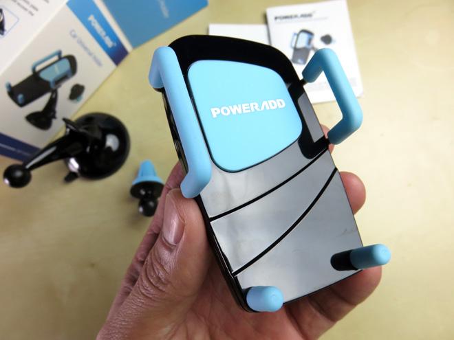 吹き出し口に差し込むゾッ!【パワーアド スマートフォン車載ホルダー Poweradd】スマホ便利グッズを試す。