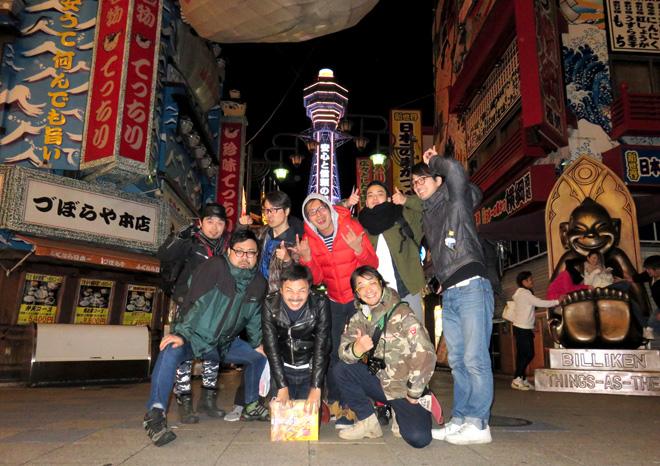 MegwinTV と新世界で串カツ!【ガチャバイクの旅】を応援だぜ。