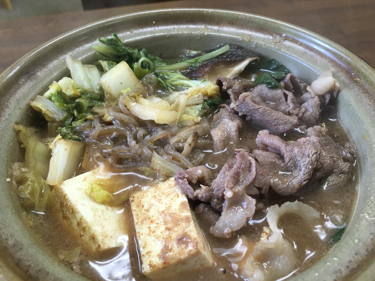 黒川温泉 ボタン鍋定食