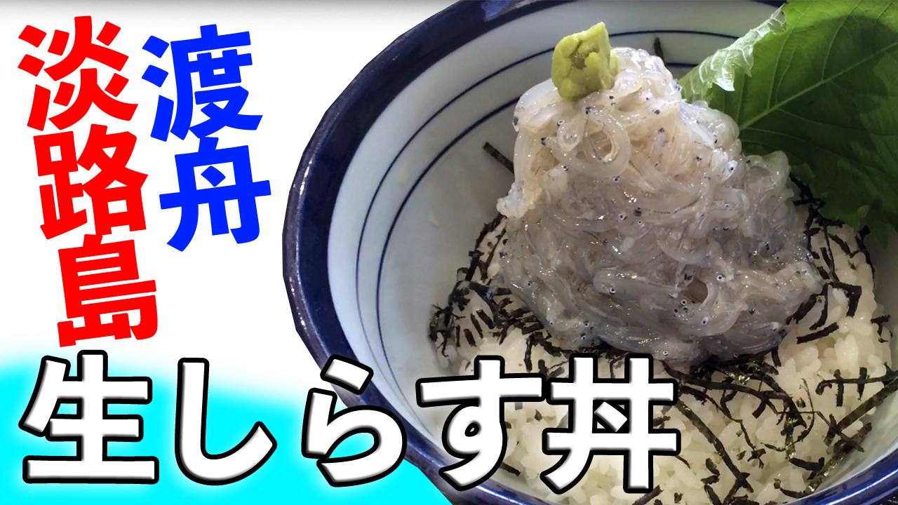 【生しらす丼】をたっぷりと!淡路島の食堂【渡舟】で食べる地元グルメ。