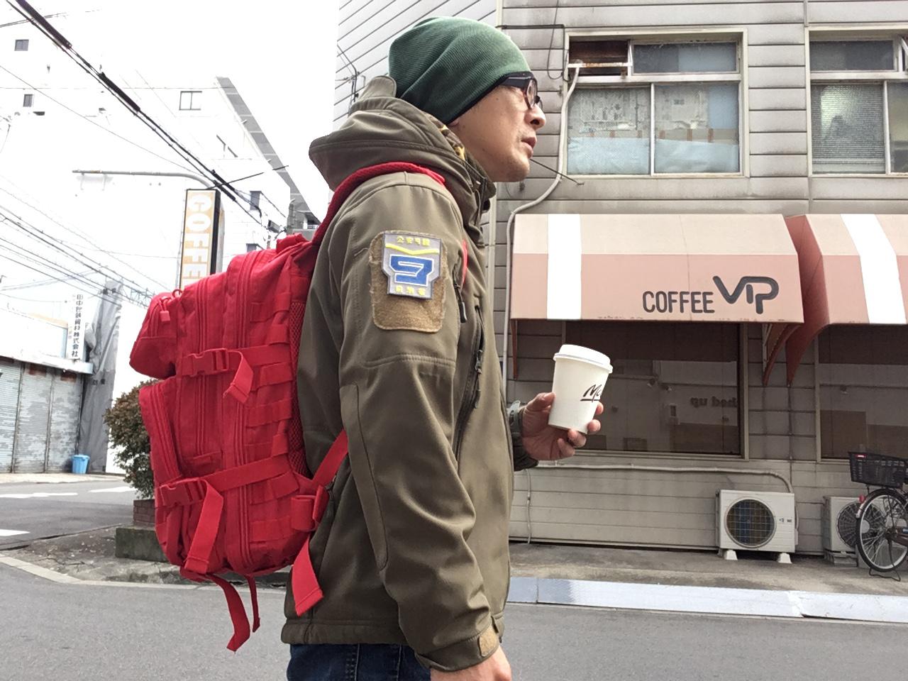 赤いけど軍用バッグ?【MIL-TEC】USタクティカルパック