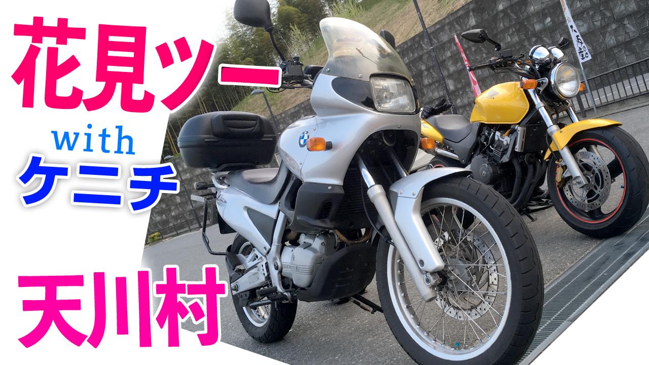 ケニチと花見ツー!【モトブログ】BMW F650 奈良県天川村へ
